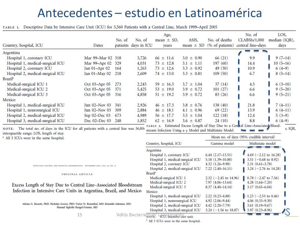 Antecedentes – estudio en Latinoamérica