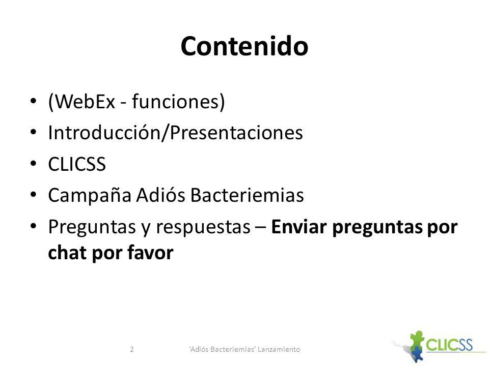 'Adiós Bacteriemias' Lanzamiento