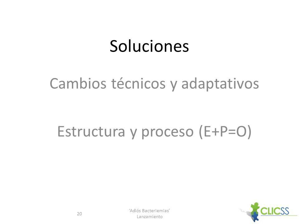 Cambios técnicos y adaptativos Estructura y proceso (E+P=O)