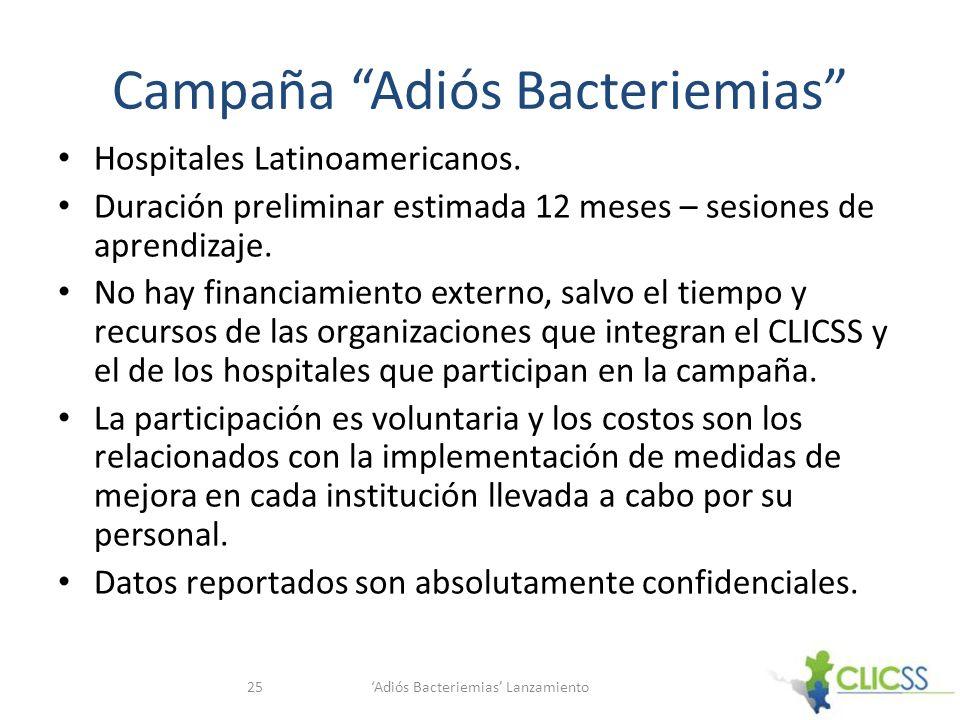 Campaña Adiós Bacteriemias