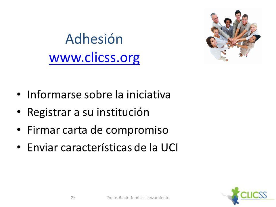 Adhesión www.clicss.org