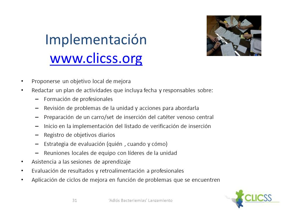 Implementación www.clicss.org