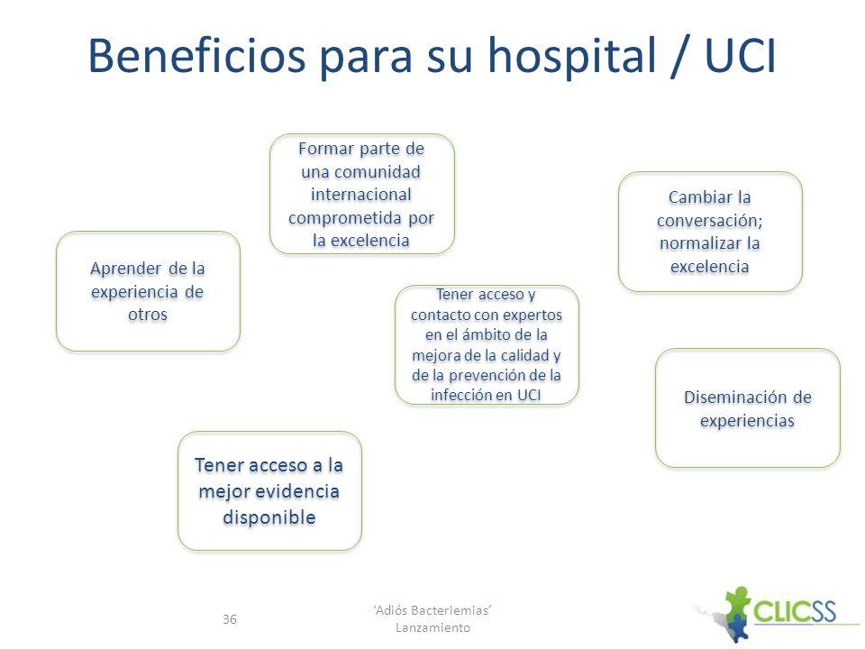 Beneficios para su hospital / UCI