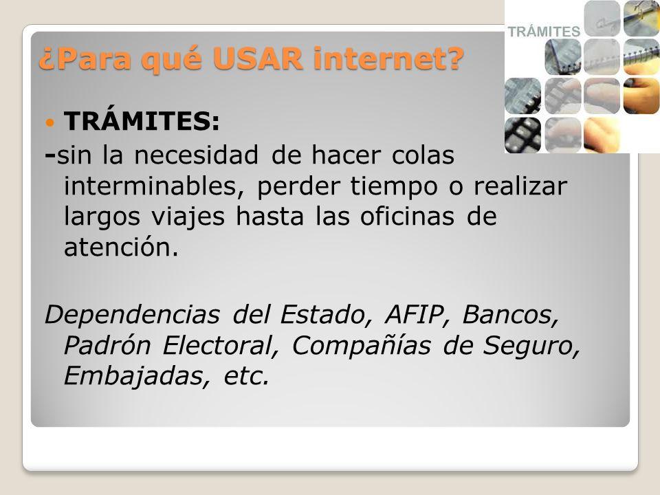 ¿Para qué USAR internet