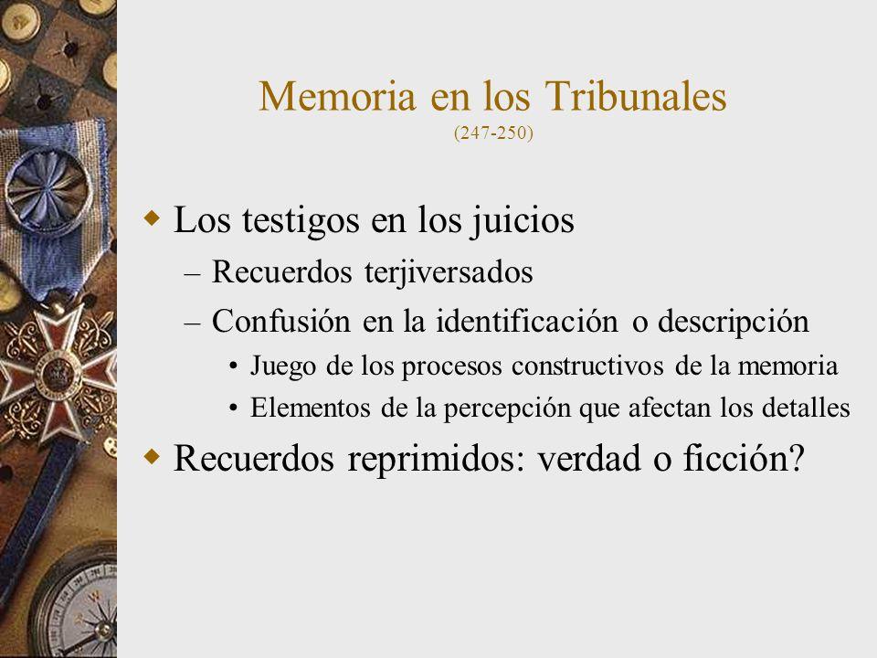 Memoria en los Tribunales (247-250)