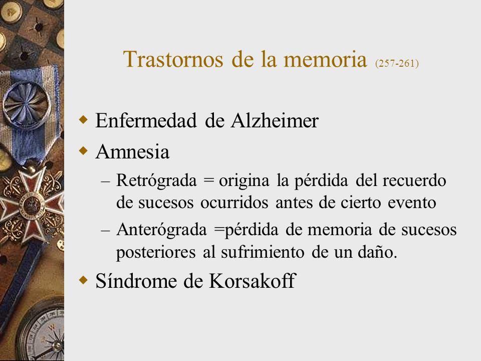 Trastornos de la memoria (257-261)