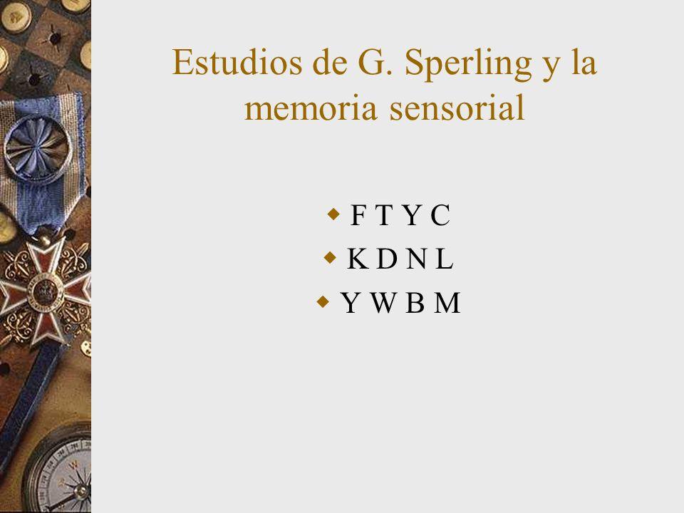 Estudios de G. Sperling y la memoria sensorial