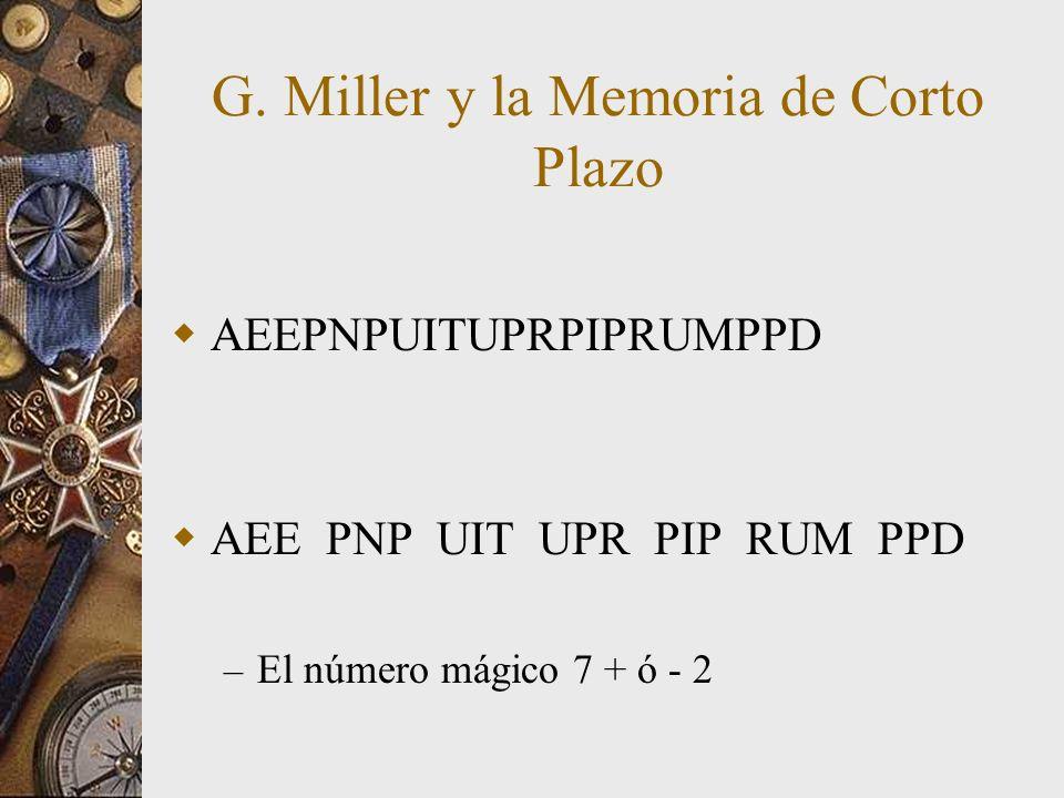 G. Miller y la Memoria de Corto Plazo