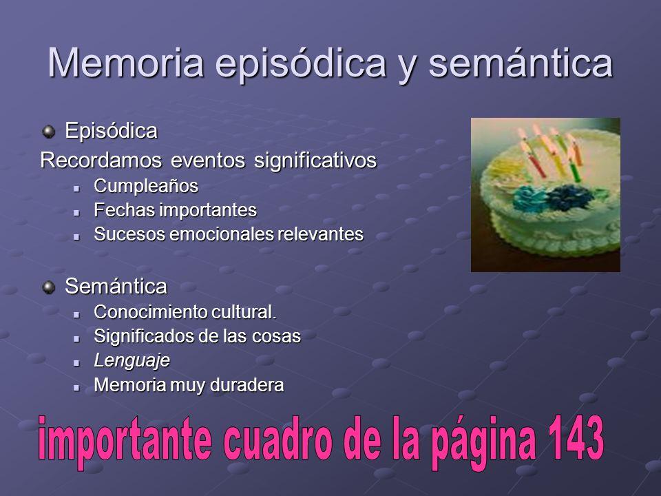 Memoria episódica y semántica