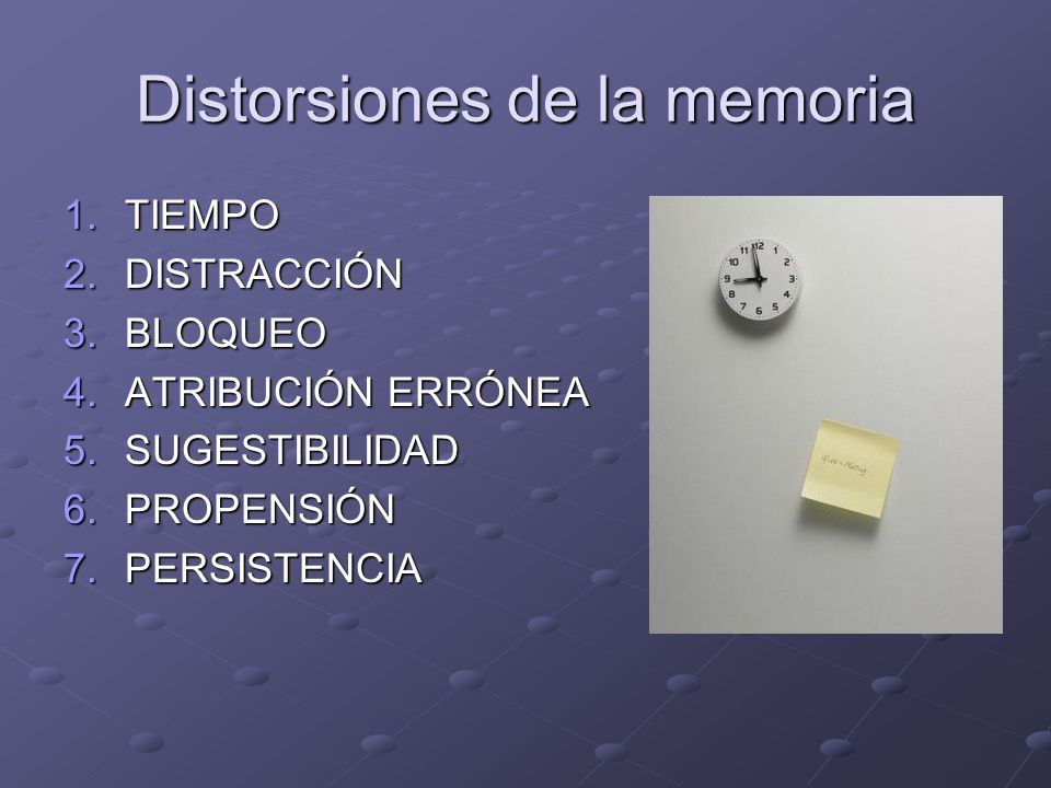 Distorsiones de la memoria