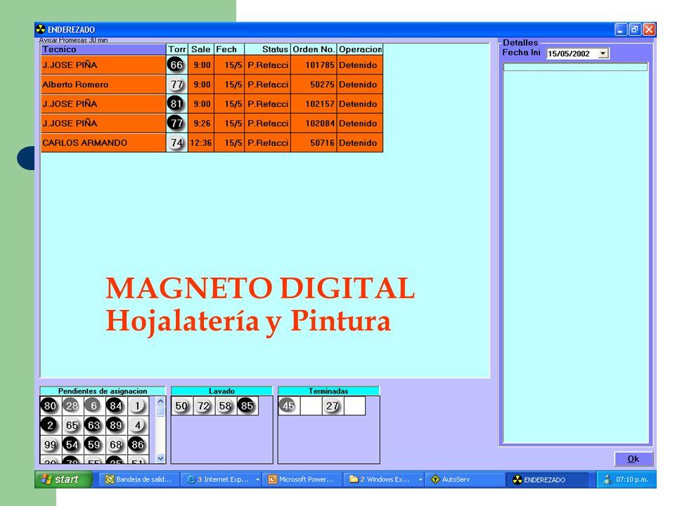 MAGNETO DIGITAL Hojalatería y Pintura