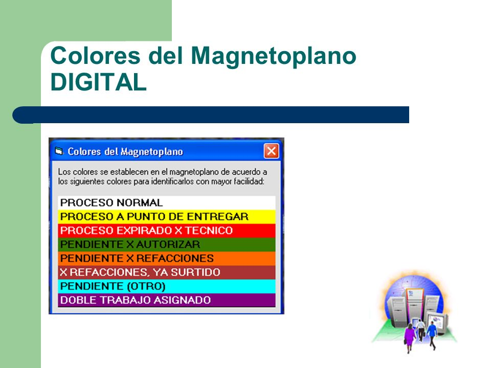 Colores del Magnetoplano DIGITAL