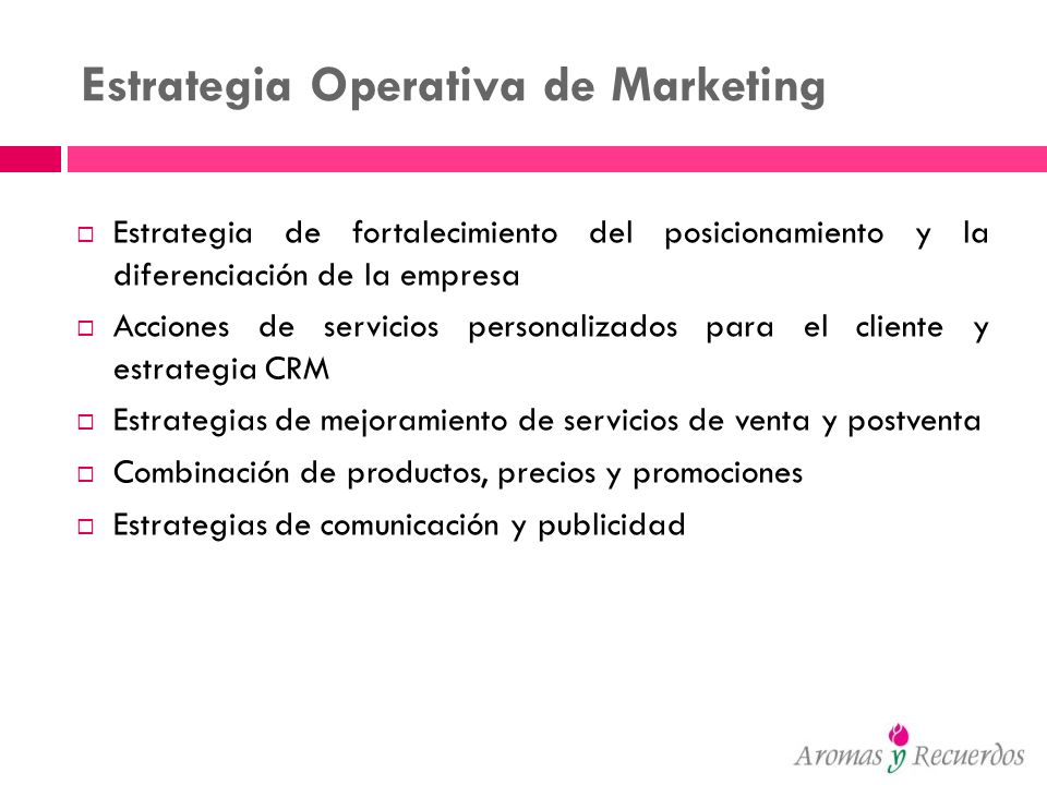 Estrategia Operativa de Marketing