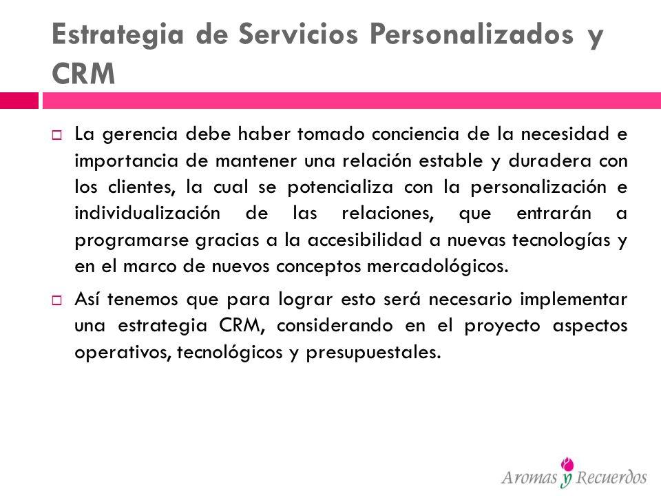 Estrategia de Servicios Personalizados y CRM
