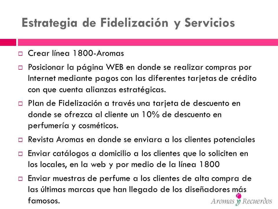 Estrategia de Fidelización y Servicios