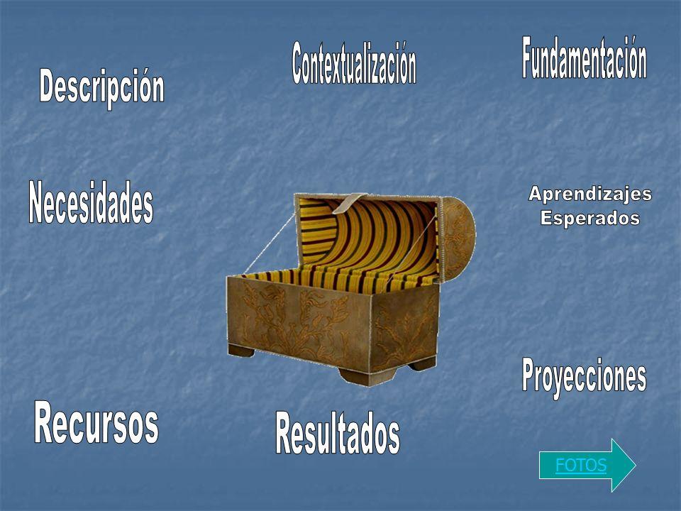 Fundamentación Contextualización Descripción Necesidades Aprendizajes