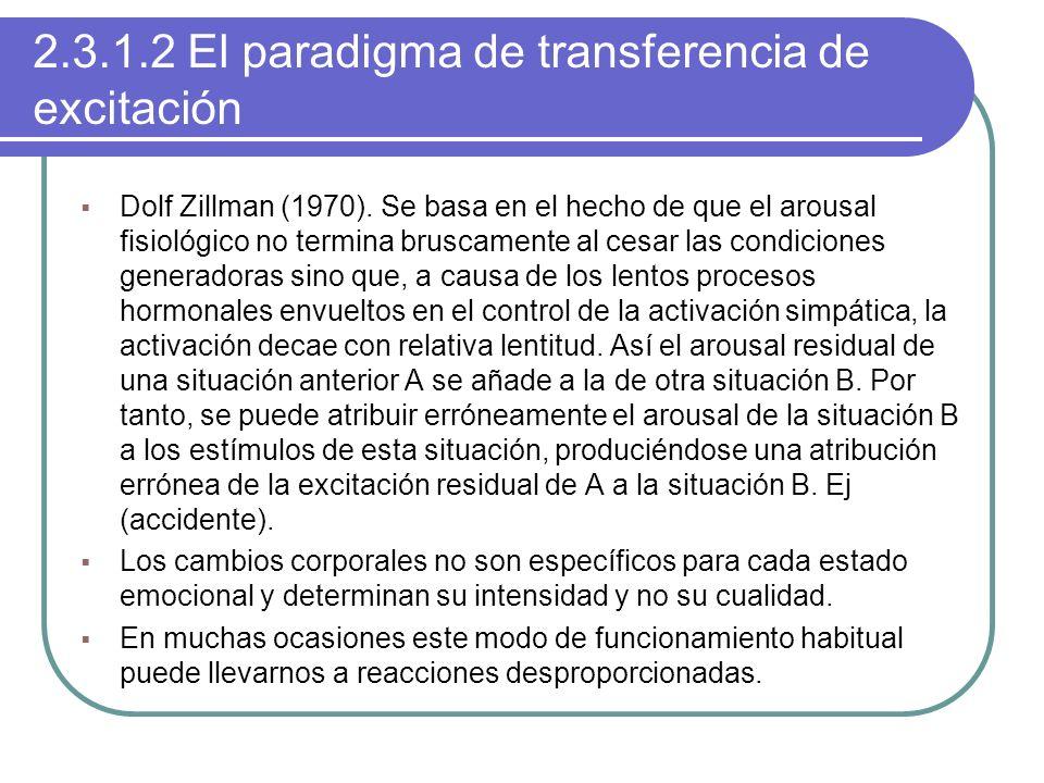 2.3.1.2 El paradigma de transferencia de excitación