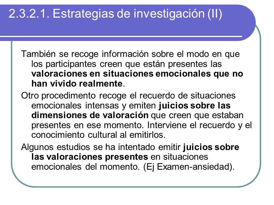 2.3.2.1. Estrategias de investigación (II)