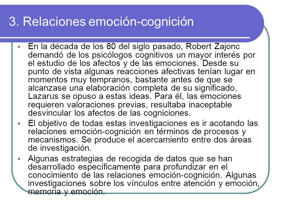3. Relaciones emoción-cognición