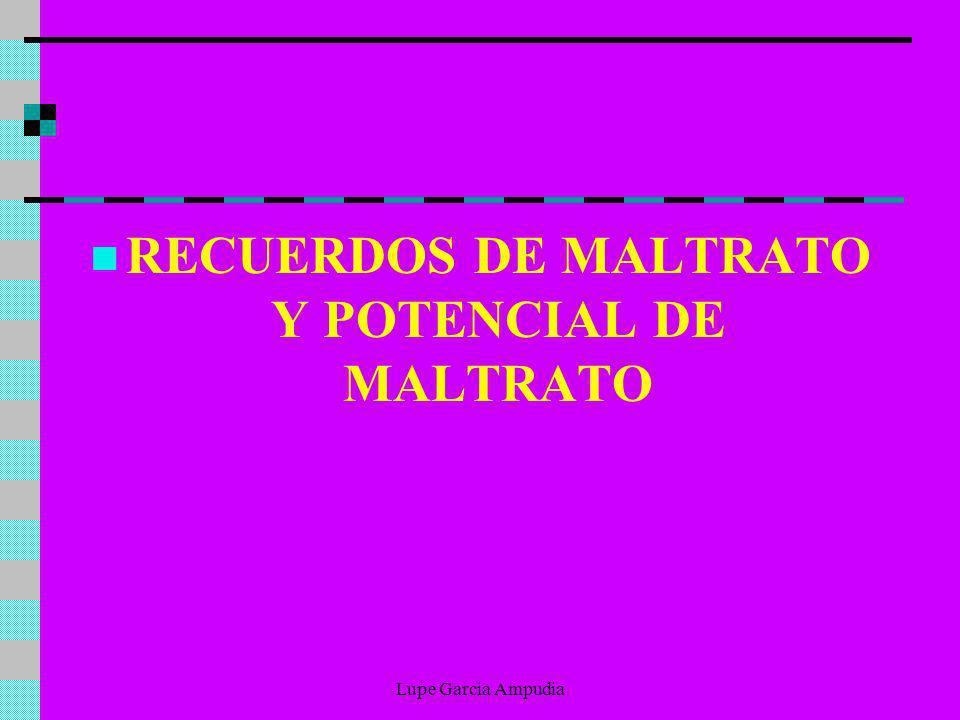 RECUERDOS DE MALTRATO Y POTENCIAL DE MALTRATO