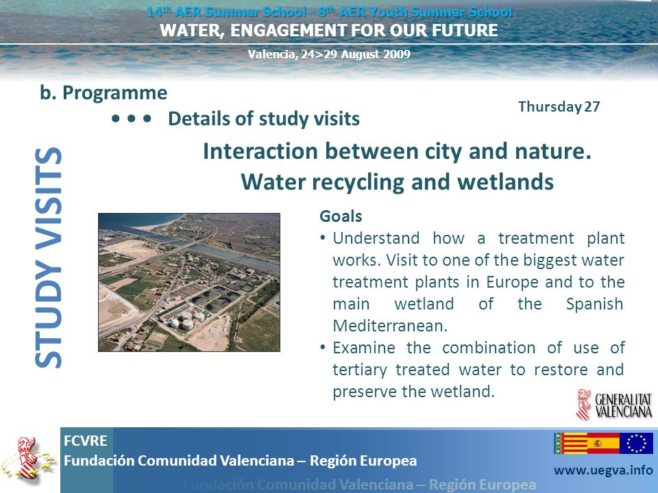 Interaction between city and nature. Water recycling and wetlands