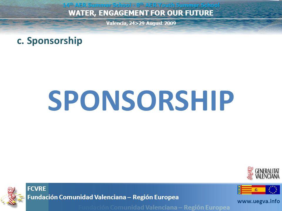 c. Sponsorship SPONSORSHIP