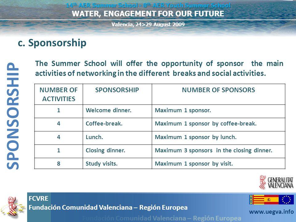 SPONSORSHIP c. Sponsorship