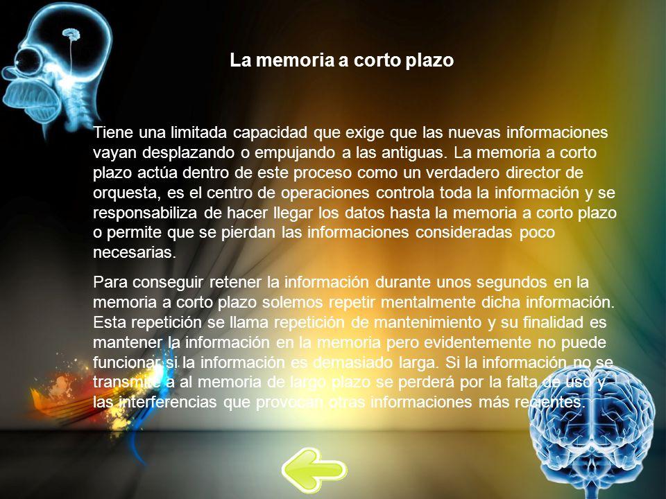 La memoria a corto plazo