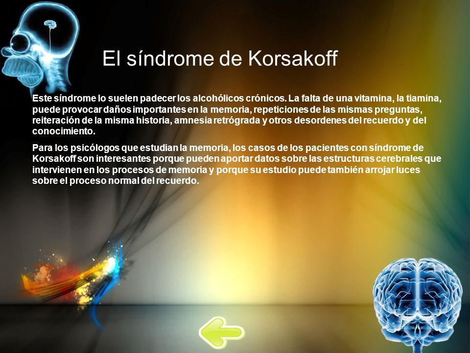 El síndrome de Korsakoff