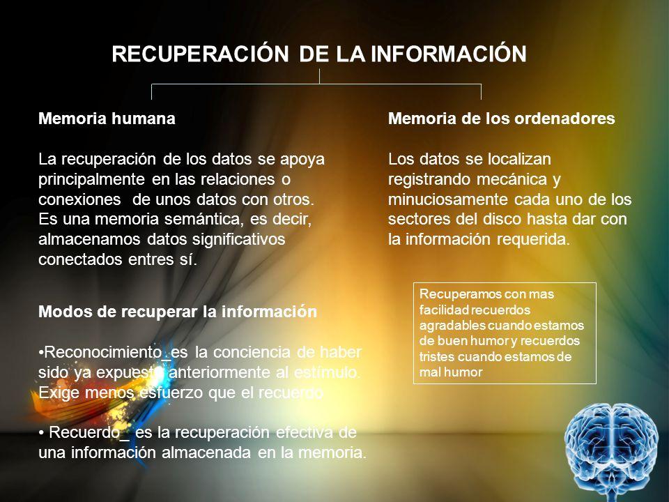 RECUPERACIÓN DE LA INFORMACIÓN