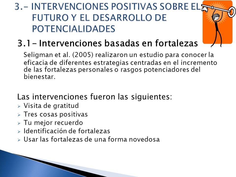 3.- INTERVENCIONES POSITIVAS SOBRE EL FUTURO Y EL DESARROLLO DE POTENCIALIDADES