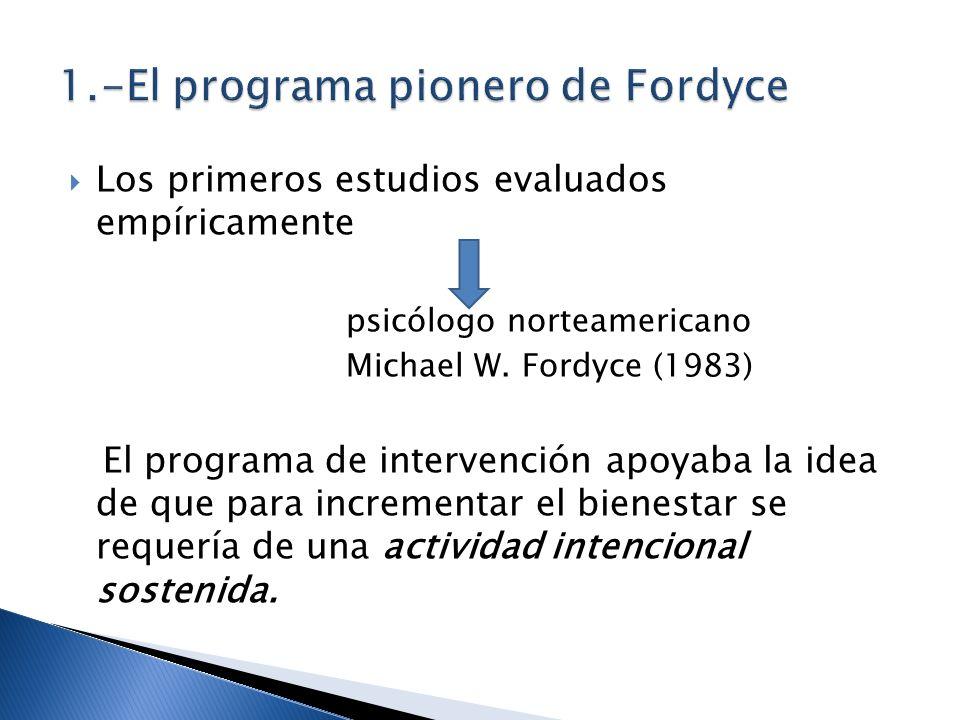 1.-El programa pionero de Fordyce