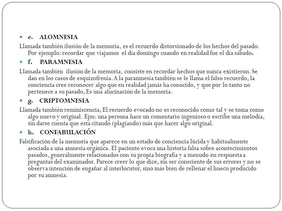 e. ALOMNESIA