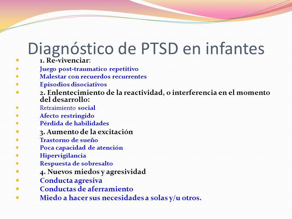 Diagnóstico de PTSD en infantes