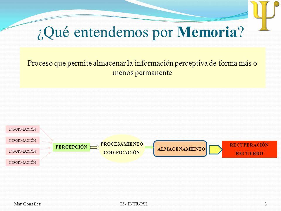 ¿Qué entendemos por Memoria