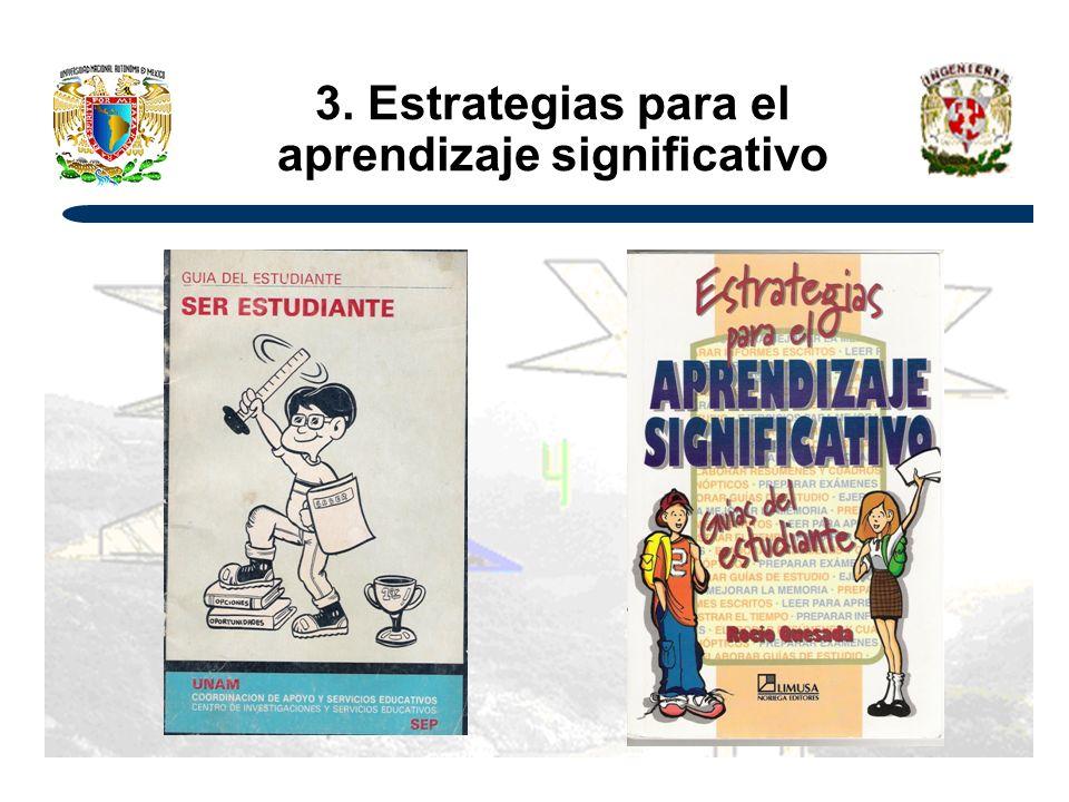 3. Estrategias para el aprendizaje significativo