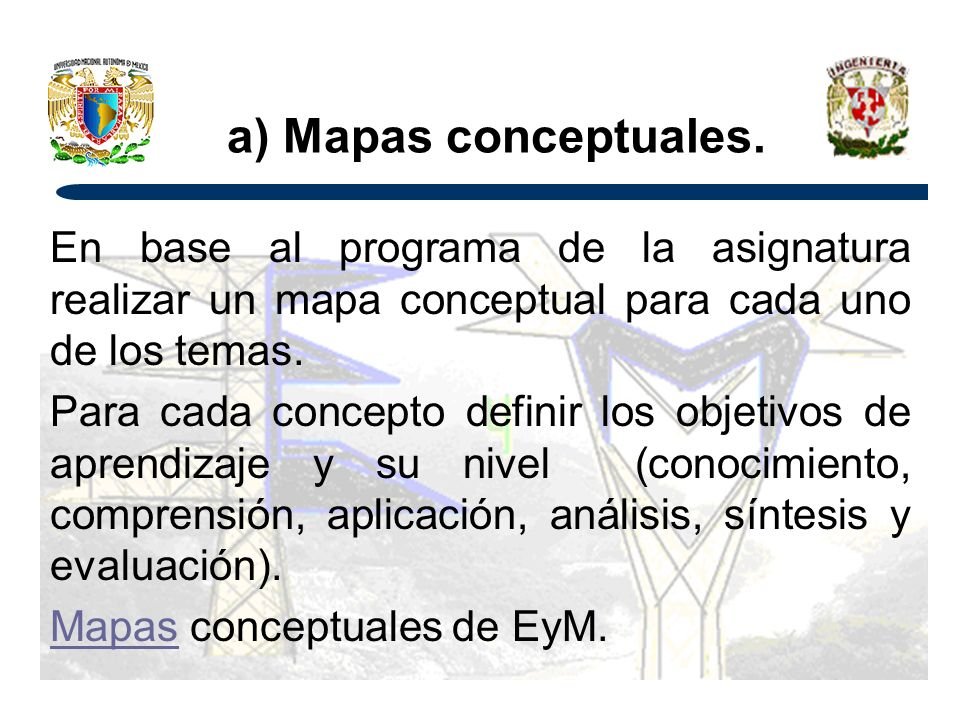 a) Mapas conceptuales.