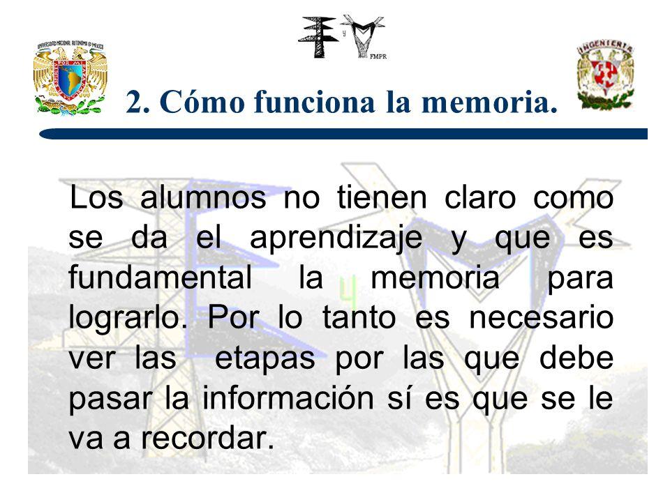 2. Cómo funciona la memoria.
