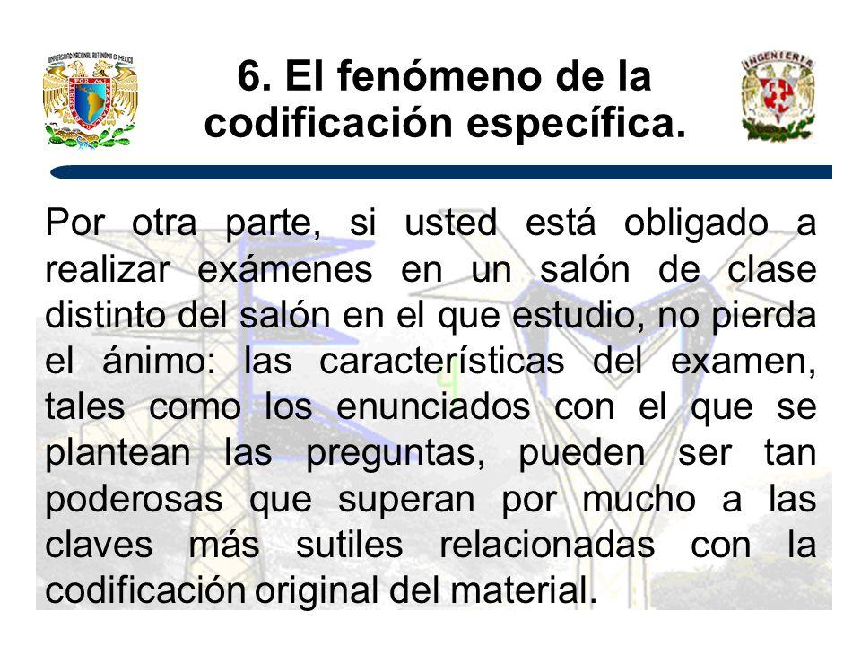 6. El fenómeno de la codificación específica.