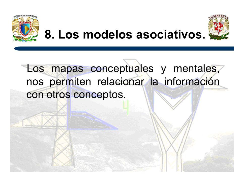 8. Los modelos asociativos.