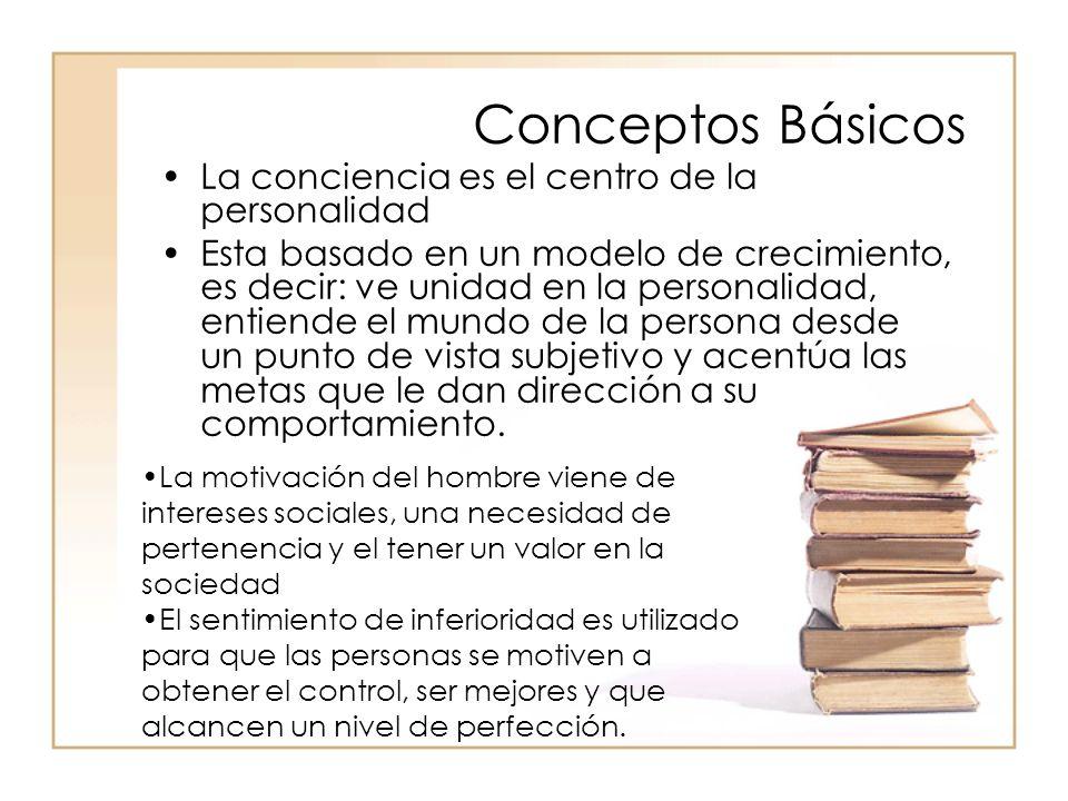 Conceptos Básicos La conciencia es el centro de la personalidad