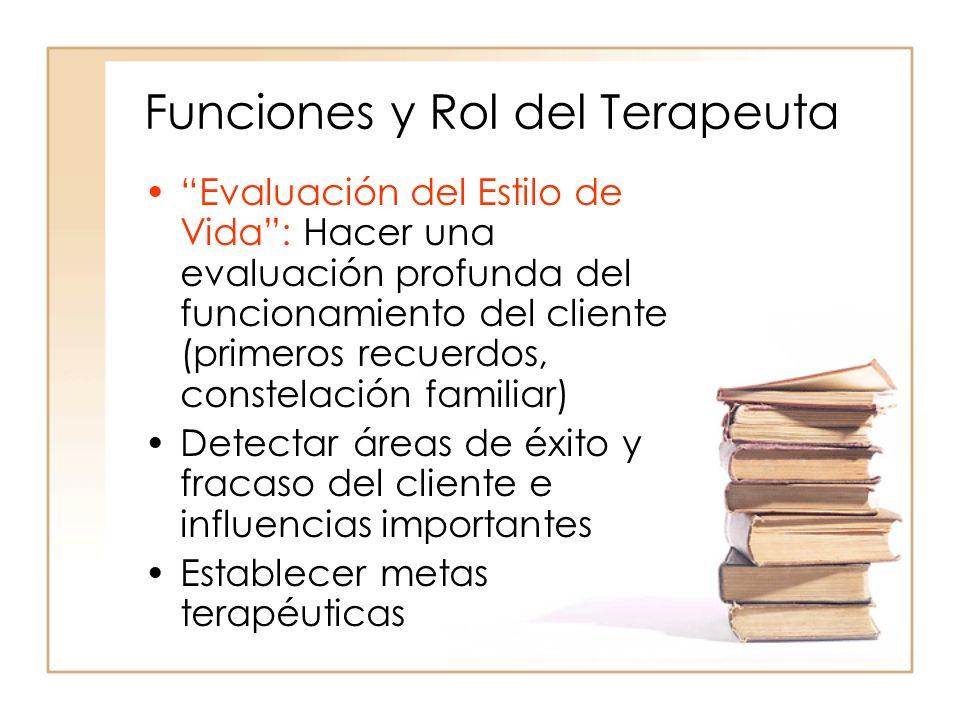 Funciones y Rol del Terapeuta