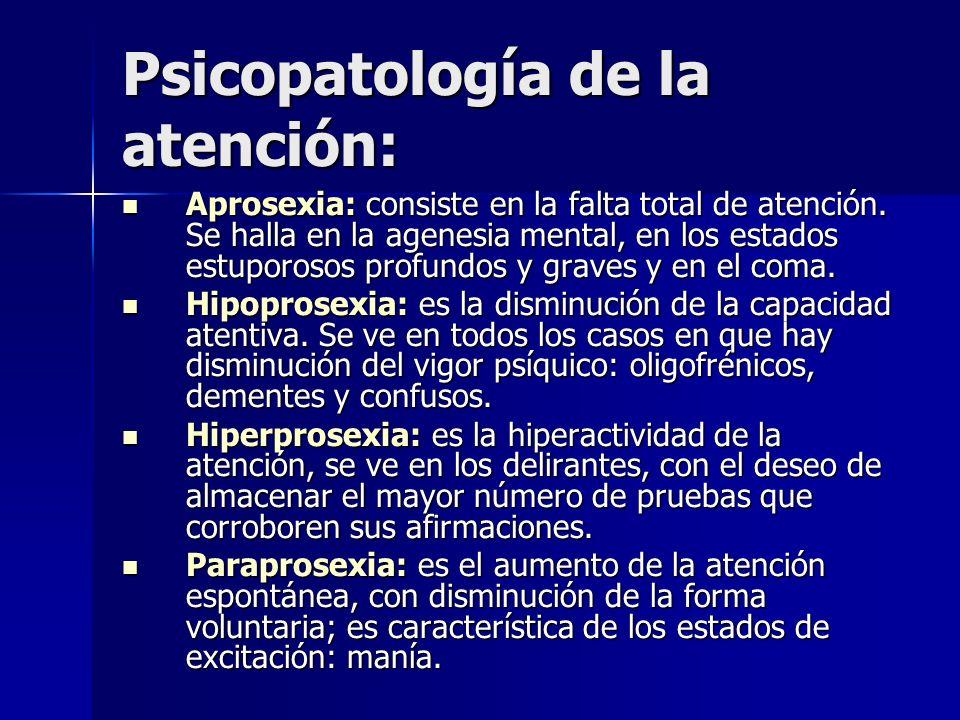 Psicopatología de la atención: