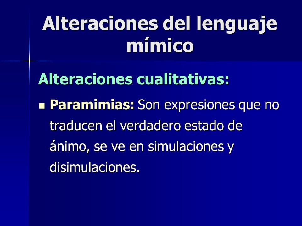 Alteraciones del lenguaje mímico