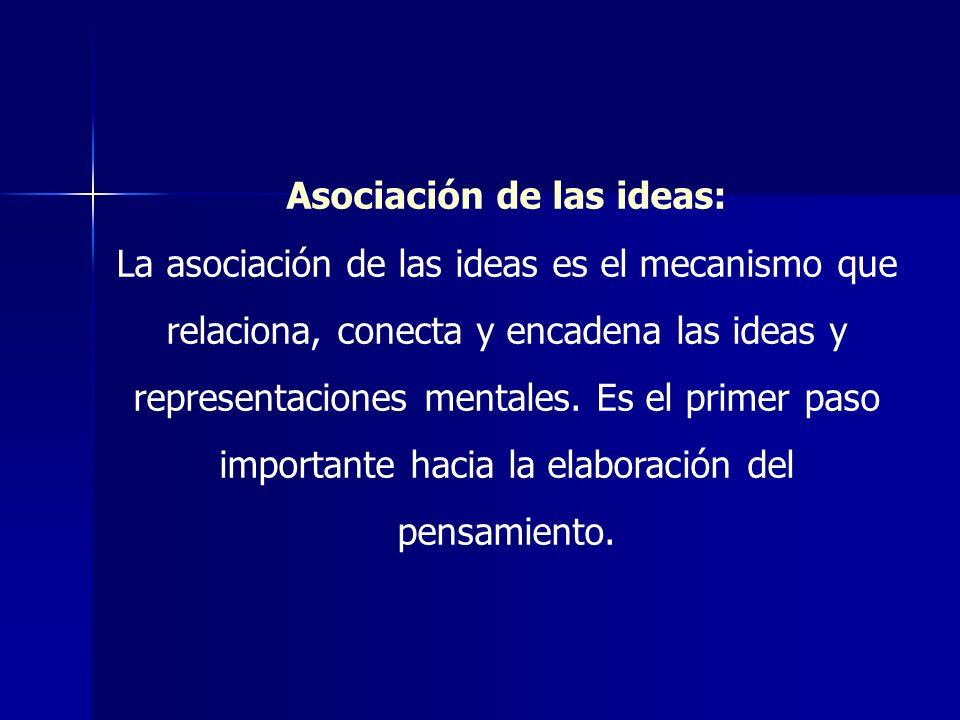 Asociación de las ideas: