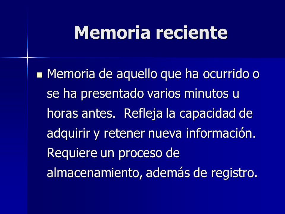 Memoria reciente
