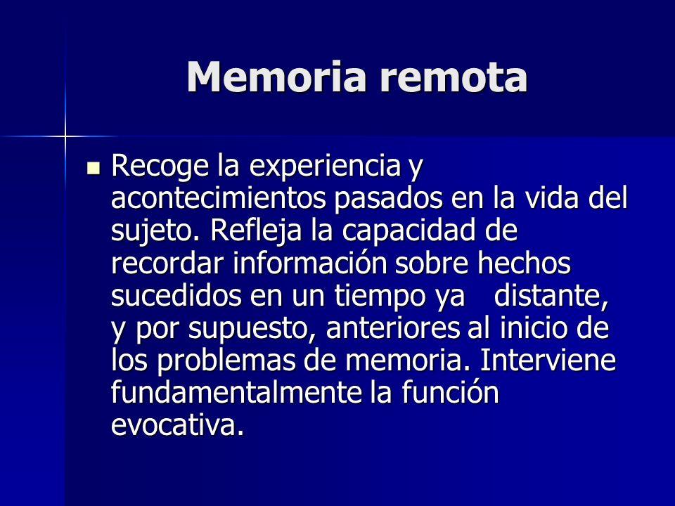 Memoria remota