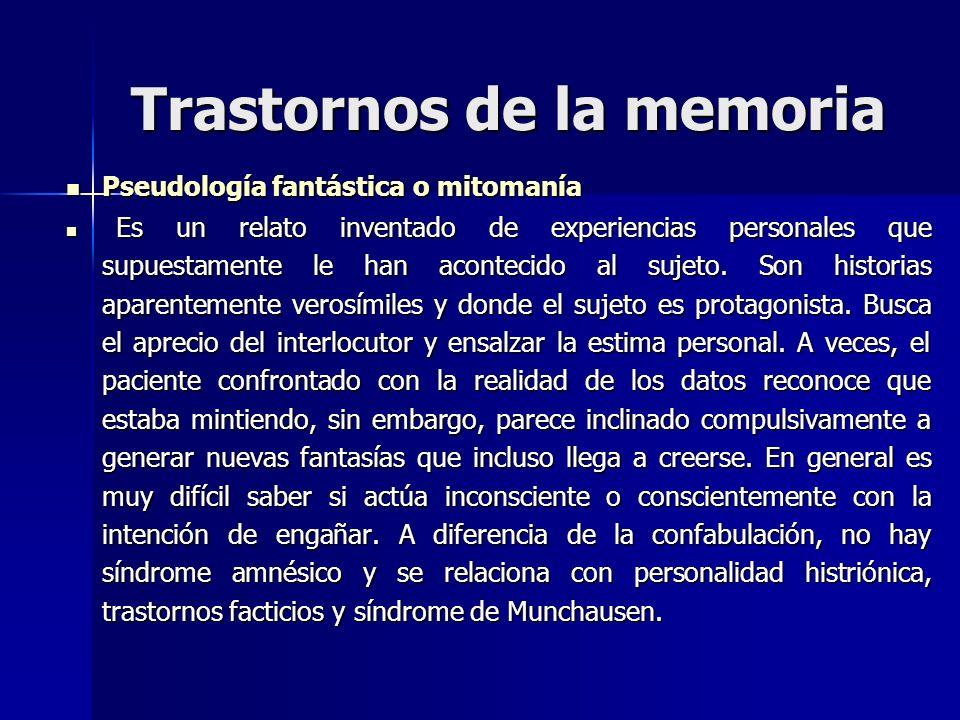 Trastornos de la memoria