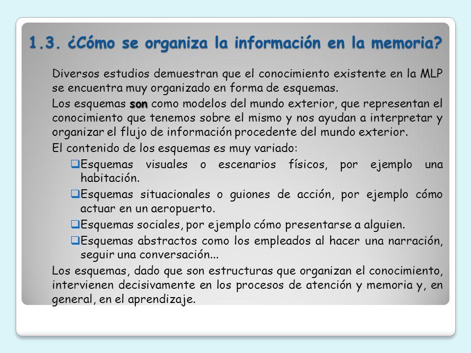 1.3. ¿Cómo se organiza la información en la memoria