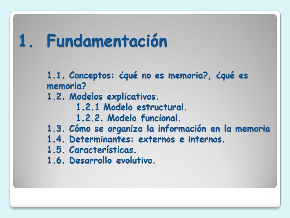 Fundamentación 1. 1. Conceptos: ¿qué no es memoria. , ¿qué es memoria